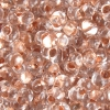 Bow Beads (Farfalle)-cut 2X4mm Crystal Copper Lined